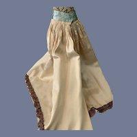 Beautiful Large Cream Colored Silk Doll Skirt