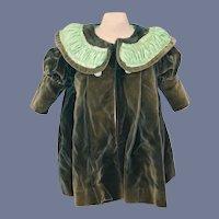 Stunning Velvet Green Doll Jacket