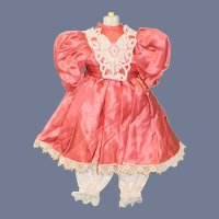 Stunning Pink Silk Doll Dress
