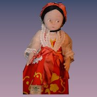 Antique Doll Lenci Cloth W/ Original Tags