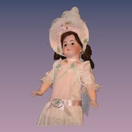 Antique Doll French TeTe Jumeau Dep Bisque Crier Dressed