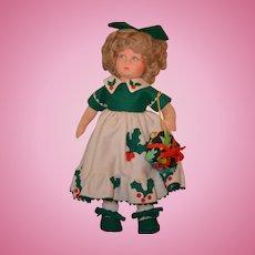 Vintage Doll Lenci Cristiana In Original Box Cloth Doll