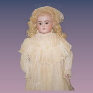 "Antique Doll Kestner Bisque Beautiful Dressed Kestner ""M"""