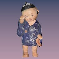 Antique Doll Oriental Crying Character  Child Unusual