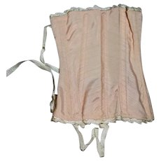 Old Doll Pink Lace up Corset Undergarment