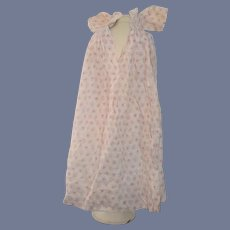 Long Floral Print Cotton Doll Dress