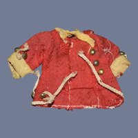 Antique Miniature Red Doll Jacket