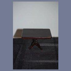 Old Miniature Wood Pedestal Table Dollhouse Doll