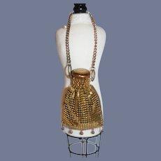 Miniature Gold Colored Mesh Doll Purse