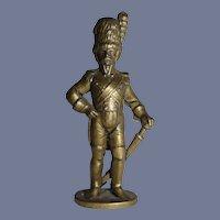 Miniature Bronze Soldier with Sword