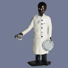 Miniature Lead Waiter in White Chef's Coat