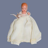 Miniature Painted All Bisque NASB Jointed Baby Doll