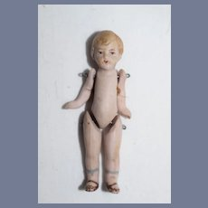 Antique Miniature Jointed All Bisque Boy