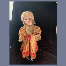Antique Simon Halbig 540 Sweet Bisque Head Fancy Mohair wig