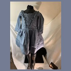 Sweet Vintage Doll Dress Lace Button and Tie Back