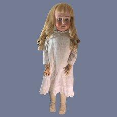"Antique Doll SCHOENAU & HOFFMEISTER 1906 HUGE 33"" Rall Doll Beautifully Dressed"