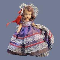 "Nancy Ann Story Book ""176 Nellie Bird"" Hard Plastic Doll"