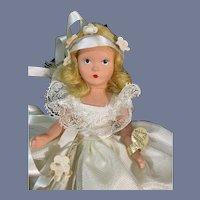 Nancy Ann Story Book Painted Hard Plastic Bride Doll