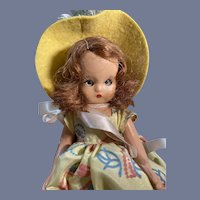 """Nancy Ann Story Book Hard Plastic #180 """"Monday's Child is fair of face"""" Doll"""