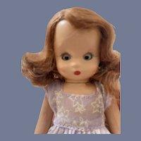 Nancy Ann Story Book Doll in Purple Floral Dress
