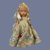 """Nancy Ann Story Book Hard Plastic """"85 Flower Girl"""""""