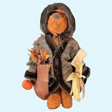 "Kay Elmore Mohair ""Harvest Santa"" Dressed Bear"