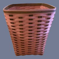 Vintage Longaberger Rare Limited Edition Pink Waste Basket