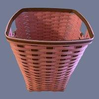 Large Vintage RARE Limited Edition Pink Longaberger Laundry Hamper