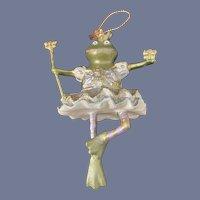 Frog Dressed as Princess Ornament