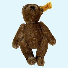 Miniature Steiff Brown Mohair Jointed Teddy Bear