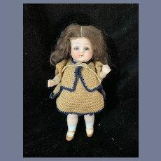 6.5'' All-Bisque Sleep Eye Stiff Neck Doll Marked Germany