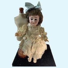 Antique Bisque Doll French Lanternier Sweet Size Antique Dress Adorable