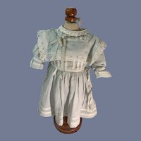 Old Doll Dress French Market So Sweet Lace Ribbons Wonderful