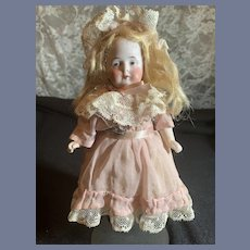 Antique Doll Miniature All Bisque Beautiful Dollhouse Dressed
