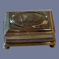 Vintage Jens Torp Sterling Doll Jewelry Box William III Style w/ Lid Fancy Dollhouse Fashion Vanity