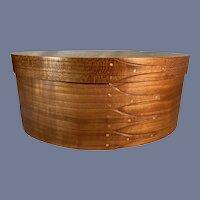 Wonderful Wood Shaker Box W/ Lid Taylor -Made 4 Finger Cherry & Birds Eye Maple