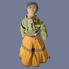 Old Cloth Doll Indian Doll Native American Original Clothes