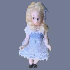 Vintage Sweet Artist Doll Miniature Tiny Dressed Character Dollhouse ALice in Wonderland