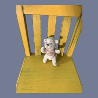 Vintage Sweet Bisque Character Dog Jointed Miniature Dollhouse
