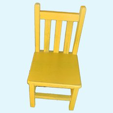 Sweet Wood Painted Doll Chair For Cloth Doll or Fashion Doll Size