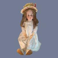 "Antique Bisque Doll Simon & Halbig Heinrich Handwerck Big Girl Beautifully Dressed 31"" Tall"