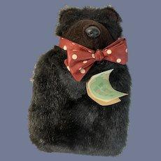 Woof & Poof Fur Teddy Bear Water Bottle W/ Original Tag Unusual