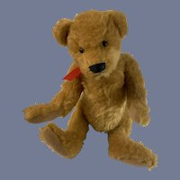Vintage Teddy Bear Purse Jointed Wonderful Button Eyes
