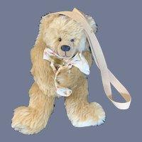 Vintage Teddy Bear The Money Bear Sue Foskey W/ Tags: Backpack: