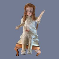"Antique Bisque Doll Large  Heinrich Handwerck Simon & Halbig 31"" Tall W/ Stamped Body"