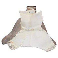 Old Petite Undergarments White Wear Cotton Jumpsuit Romper
