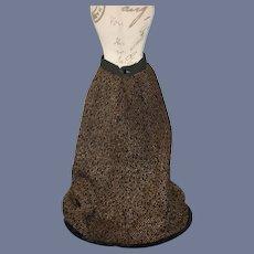Old Doll Skirt Hand Made Fashion Doll Velvet Trim Woven