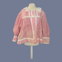 """Large Red and White Plaid Doll Blouse 13"""""""