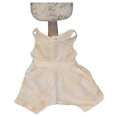 Antique Doll Undergarments White Wear Jumpsuit