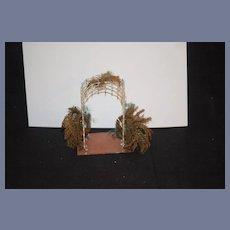 Antique Doll Miniature Gazebo Garden Decoration Metal Ornate Dollhouse